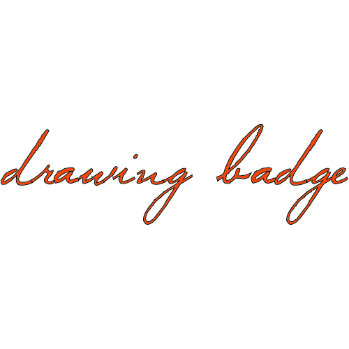 drawing badge